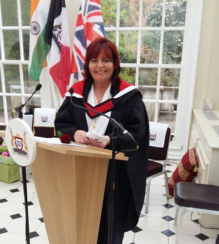 Anita Addressing the Trichological Society