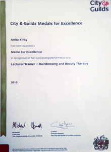 City and Guilds Lecturer Hairdressing