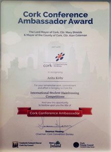 Cork Conference Ambassador Award